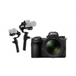 كاميرا نيكون الرقمية  z 7بدون مرآة مع عدسة 24-70 ملم+ الحامل الموازن رونين – إس – على 3 محاور لكاميرا دي إس إل آر من دي جاي آي