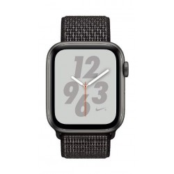 Apple Watch Nike+ Series 4 GPS 44mm Space Gray Aluminum Case with Black Nike Sport Loop -MU7J2AE/A