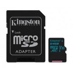 Kingston Canvas Go Class 10 U3 MicroSD Card - 64GB