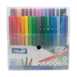 Milan Fibre Pens Transparent Case 30pcs