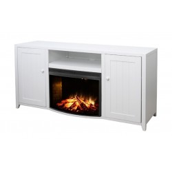 Wansa Fireplace TV Stand Up To 65 inch - White