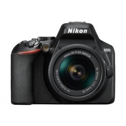 كاميرا نيكون دي ٣٥٠٠ الرقمية دي إس إل آر مع عدسة ١٨-٥٥ ملم - أسود