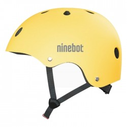 Segway Ninebot Adult Commuter Helmet Black air holes Adjustment spin dial and strap side view
