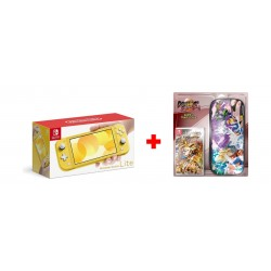Nintendo Switch Lite Gaming Console - Yellow + Dragon Ball FighterZ Nintendo Switch Game + Travel Case