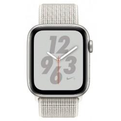 Apple Watch Nike+ Series 4 GPS 44mm Silver Aluminum Case with Summit White Nike Sport Loop -MU7H2AE/A