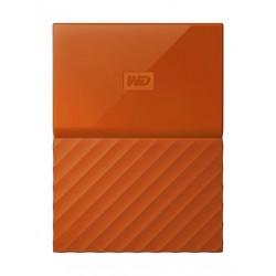القرص الصلب الخارجي ماي باسبورت سعة ٤ تيرا بايت ومنفذ يو إس بي ٣,٠ من ويسترن ديجيتال - برتقالي