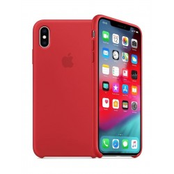 Apple iPhone XS Silicone Case - Red 1