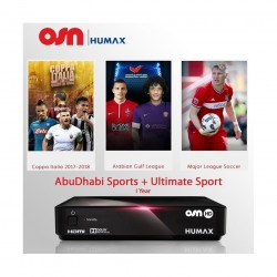 Humax 1000S/ME Digital Satellite Receiver + OSN Abu Dhabi Sports and Ultimate Sports 1 Year Subscription