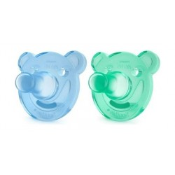 Philips Avent 2Pcs Silicon Soothie For 0 to 3 Months - Boy