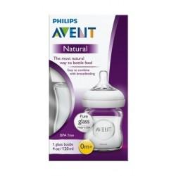 Philips Avent 120ML Natural Feeding Glass Bottle