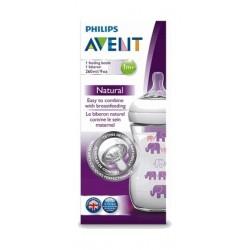 Philips Avent 260ML Natural Feeding Bottle - Purple