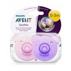 Philips Avent 2Pcs Silicon Soothie For 0 to 3 Months - Girl
