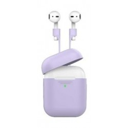 Promate Protective Case and Strap Kit for Airpods - Purple