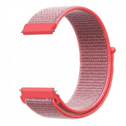 حزام الساعة من النايلون مقاس 20 مم من اي كيو - وردي