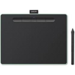 تابلت الرسم الإبداعي واكوم إنتوس بتقنية البلوتوث مع قلم رسم - (وسط) - أخضر فستقي (CTL-6100WLK)