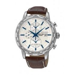 ساعة سيكو للرجال بنظام الكرونوغراف مع سوار جلدي ـ PL051