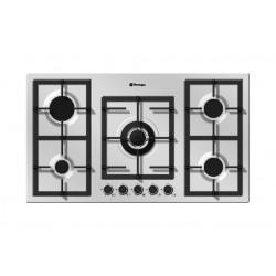 طباخ غاز مسطّح ومدمج من تيكنوجاز – ٩٠ سم – ٥ شعلات – ستانليس ستيل  (PN90GVF5TGX)