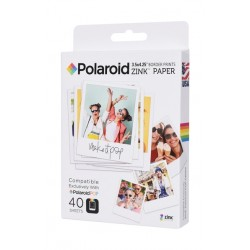 Polaroid Pop Zink 3X4 Media Photo Paper - 40 Sheets