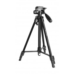 Promate Aluminum Portable and Adjustable Camera Tripod (Precise-140) - 140 cm