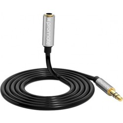 Promate AuxKit Premium 3-in-1 Auxiliary Cable Kit + Splitter (AUXKIT.BLACK)