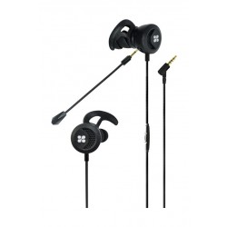 Promate Clink In-Ear Gaming Earphone with Detachable Microphone - Black