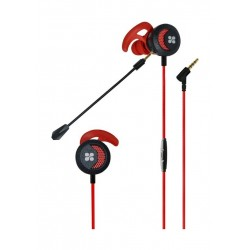 Promate Clink In-Ear Gaming Earphone with Detachable Microphone - Red