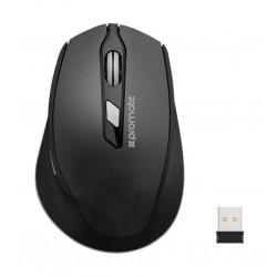 Promate CLIX-6 Ergonomic Wireless Mouse - Black