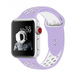 Promate Oreo 40mm Sporty Apple Watch Band - Purple/White
