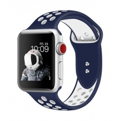Promate Oreo 44mm Sporty Apple Watch Band - Blue/White