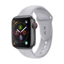 Promate Oryx-42ML Sporty Silicon Watch Strap for 42mm Apple Watch - Grey