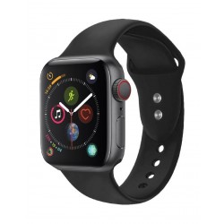 Promate Oryx Sporty Silicon Watch Strap for 38mm Apple Watch (M/L) - Black