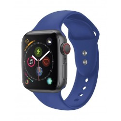 Promate Oryx Sporty Silicon Watch Strap for 42mm Apple Watch (S/M) - Blue