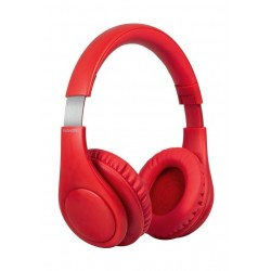 Promate Plush Dynamic Over-Ear Wireless Stereo Headset - Red