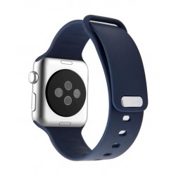 Promate Rarity 44mm Apple Watch Stylish Silicon Strap - Blue