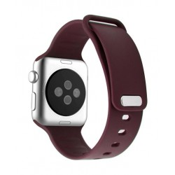 Promate Rarity 44mm Apple Watch Stylish Silicon Strap - Maroon