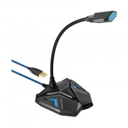 Promate Streamer High Definition USB Gaming Microphone - Blue