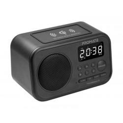 Promate Timebase-3 Multi-Function Wireless Speaker & Charging Station - Black