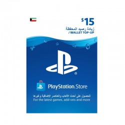 PlayStation Wallet Top-Up $15 (Kuwaiti Account)