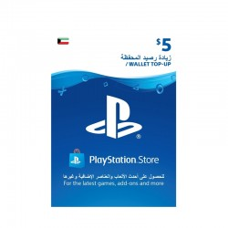 PlayStation Wallet Top-Up $5 (Kuwaiti Account)