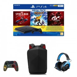 Sony PlayStation 4 500GB Mega Pack with Headset, Controller, Backpack and 3 Games Bundle in Kuwait   Buy Online – Xcite