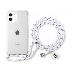 غطاء حماية أيفون 12 ميني من اي كيو مع حزام - أبيض