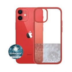 Panzer iPhone 12-12 Pro Anti-Bacterial Case - Red