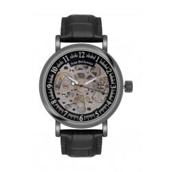ساعة جين بليكور للرجال بعرض تناظري كوارتز وحزام جلد (REDH4 )