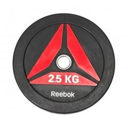Reebok 2.5Kg Bumper Plate (RSWT-13025) - Matte Black/Red