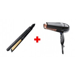 Revlon Perfect Straight Ceramic Flat Iron - RVST2174ARB + Revlon Salon 360 Hair Dryer -  RVDR5206ARB