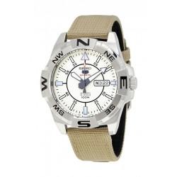 ساعة سيكو بنظام عرض تناظري وحزام من النايلون للرجال (RPA67J1)