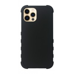 EQ Rugged Silicone Case for iPhone 12/12 Pro - Black