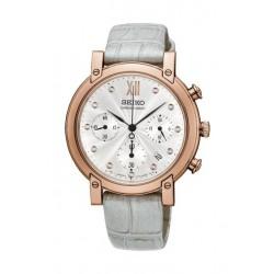 Seiko Watch 35mm Chronograph Quartz Ladies Leather Watch - RW834P