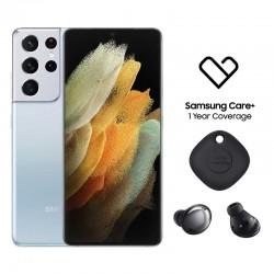 اطلب مسبقا: هاتف سامسونج جالاكسي اس 21 الترا (S21 Ultra)  بسعة 256 جيجابايت وتقنية 5 جي - فضي