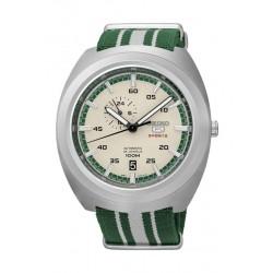 ساعة سيكو للرجال بعرض تناظري – سوار قماش - أخضر / بيج  (A285J)